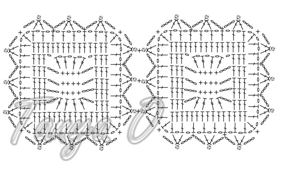 квадратный мотив крючком